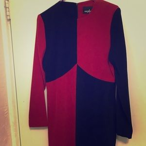 Positive Attitude Vintage Red and Black Dress